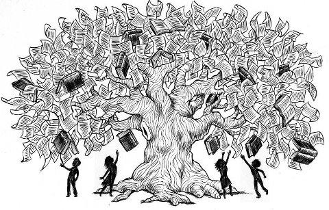Imm albero di libri