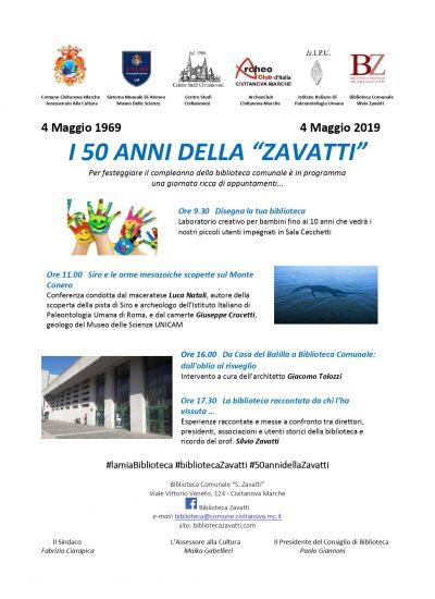 I 50 anni della Biblioteca Zavatti