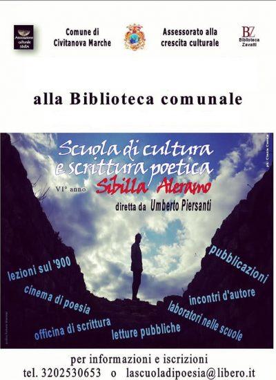 """Incontro rinviato Scuola di scrittura e cultura poetica """"Sibilla Aleramo"""""""